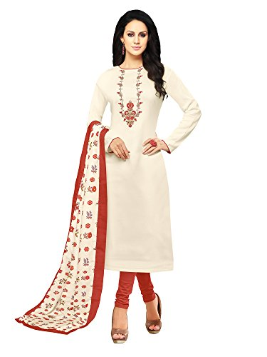 Mrinalika fashion Cotton Silk dress material for womens (21DMK633_salwar suit dress material_Free...