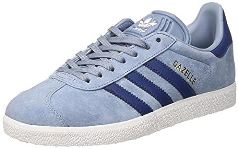 adidas Gazelle, Baskets Basses Femme, Bleu (Tactile Blue/Mystery Blue/Footwear White), 40 EU