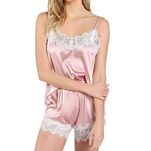 ➤Refill➤Satin Nachtwäsche Damen Damen Nachtwäsche Nachthemd Sexy Dessous mit Brustpolstern -Baby Dolls & Negligees für Damen
