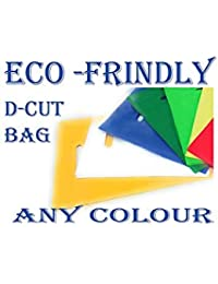 Tshot Eco Friendly Grocery Bags, (D-Cut) Size 12 x 16 (Pack of (100)