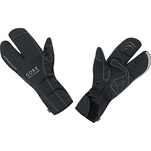 GORE BIKE Wear Herren Thermo-Rennradhandschuhe, Zweikammer-Schnitt, PrimaLoft Isolation, GORE WINDSTOPPER, ROAD WS Thermo Split Gloves, Größe 10, Schwarz, GROADE