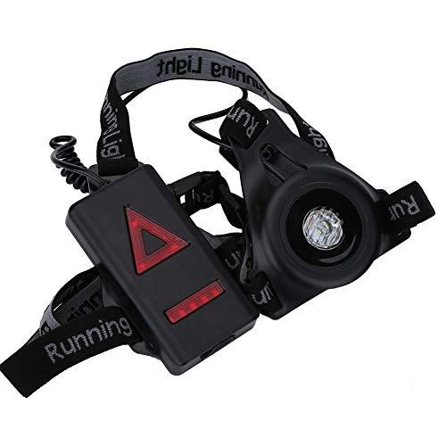SOULONG USB Nero Sport Lampada, Running Light in Rete di Nylon Traspirante, LED Petto Lampada per Jogging Corsa Pesca, 4 modalità 250 lm Luce di Corsa.