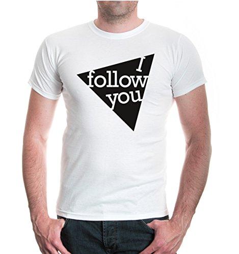 buXsbaum® T-Shirt I follow you White-Black