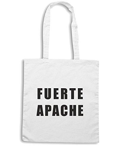 T-Shirtshock - Borsa Shopping T0612 fuerte apache carlitos tevez calcio ultras Bianco