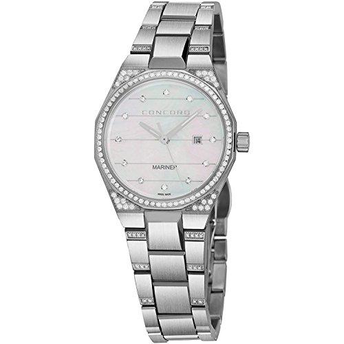 Concord Reloj de mujer cuarzo suizo 30mm correa y caja de acero 0320276