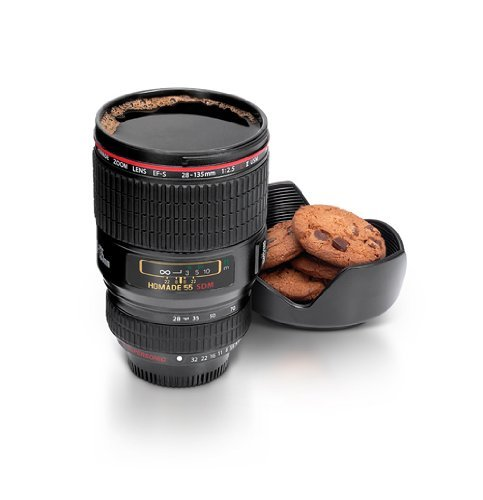 XY Fancy die zweite Generation SLR Kamera Objektiv Becher Kaffee Tasse Tee Tasse Wasser Becher schwarz (Schwarz Tee Strass)