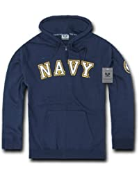 Rapiddominance US Navy Full Zip Hoodie, Small by Rapid Dominance