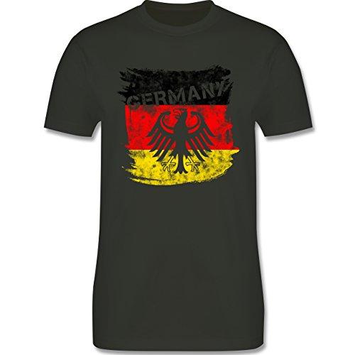 EM 2016 - Frankreich - Germany mit Adler Vintage - Herren Premium T-Shirt Army Grün