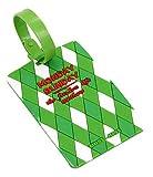 Koala Superstore Reisegepäck Tasche Tag Check-in Gepäckkarte Set Label Tag Anhänger Platz Grün