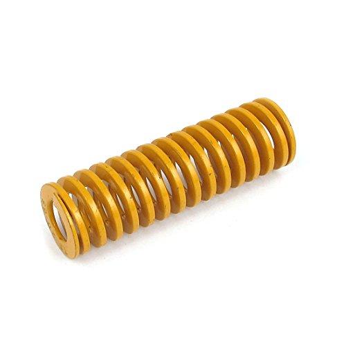 Preisvergleich Produktbild sourcingmap® 20mmx65mm Chromlegierter Stahl leichtesten Last Spirale Druckfeder Gelb