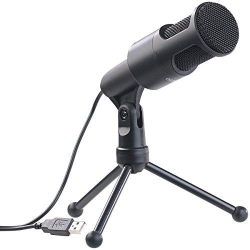 auvisio Microphone: Profi-USB-Kondensator-Mikrofon, High-Performance, Mini-Stativ (Studio Mikrofon)