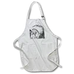 3dRose apr_47037_4 Einstein Humor, Humour, Mathematics, Fun, Funny, Man, Men Full Length Apron with Pockets, 22 by 30-Inch, Black