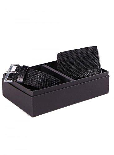 DIESEL Uomo Sterling-scatola 100% In Pelle Portafoglio E Cintura C T8013 100