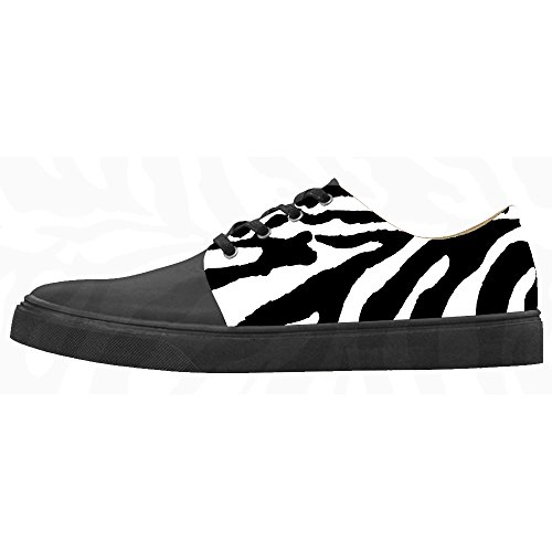 (Custom zebra print Women's Canvas shoes Schuhe Footwear Sneakers shoes Schuhe)