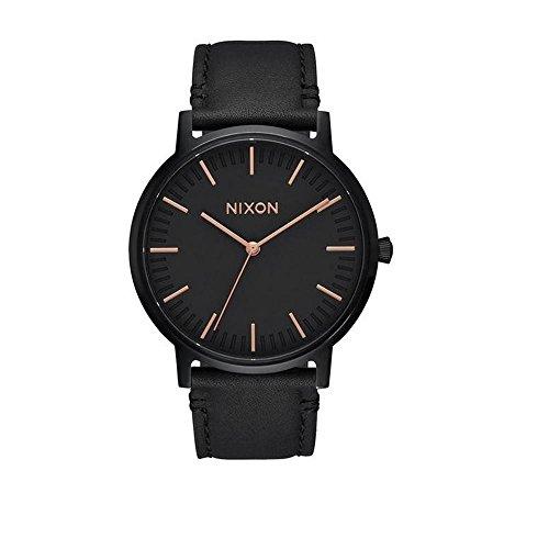 Nixon orologio analogico quarzo uomo con cinturino in pelle a1058-957-00