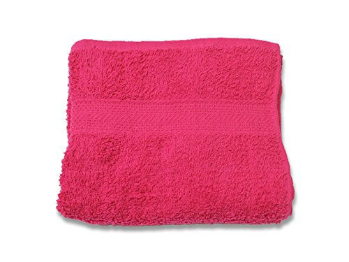 Soleil d'Ocre 431045 Serviette de Toilette Coton Rose/Framboise 50x90 cm