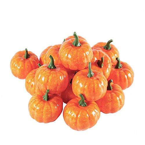 (KayMayn 12pcs Künstliche Herbsternte Mini Kürbisse, für Halloween/Thanksgiving/Herbsthochzeits Dekoration/utumn Thanksgiving Garden Home Ernte Dekoration Gelb)