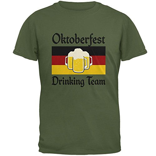 Old Glory Oktoberfest Trinken Team Flagge Deutsches Bier Herren-T-Shirt Military Green MD (Trinken T-shirt Green Team Das Von)