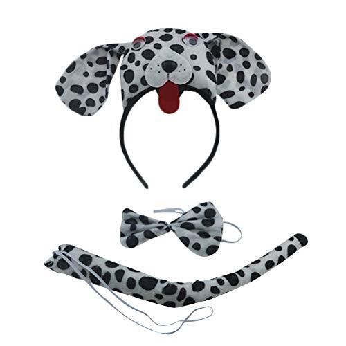 der Tier Kostüm Set mit Hund Ohren Stirnband Schwanz und Fliege Kinderkostüm für Ostern Party Cosplay Verkleidung ()