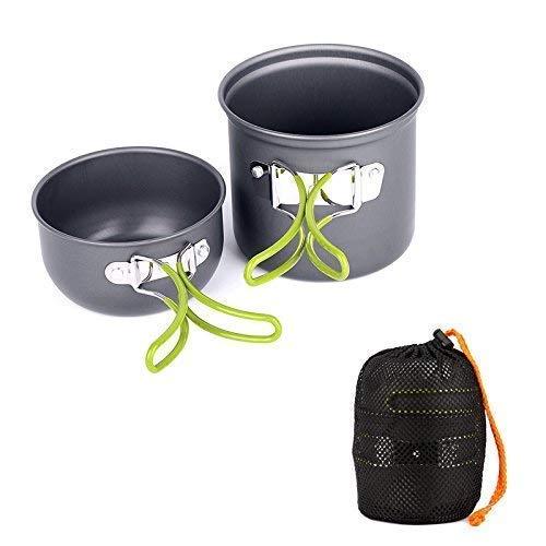Ecent 2pics kit de utensilios de cocina vajilla ollas para camping senderismo excursión al aire libre...