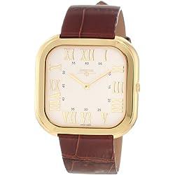 Swisstek Herren SK21209G Limited Edition Gold Plated Stainless Steel Ultra Thin Swiss Quartz Uhr