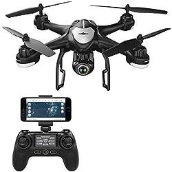 Potensic - Drone con Cámara 1080P HD, WiFi FPV RC Avion con 2.4Ghz Control Remoto, Negro (T18)