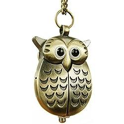 Meta-U Vintage Style Owl Pocket Watch