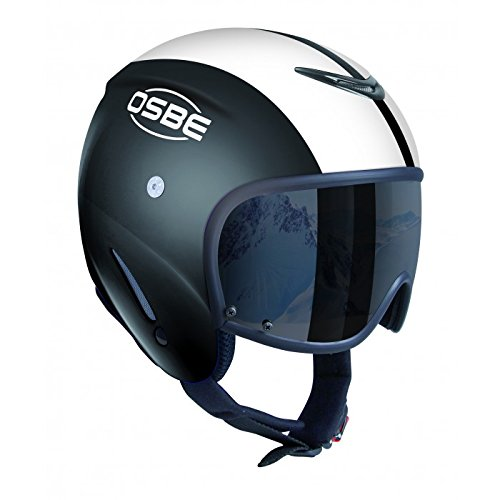 OSBE–Casco da sci con visiera Bellagio Cooper, nero, 58