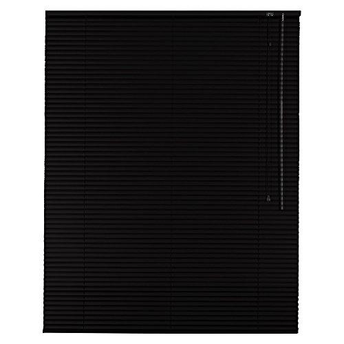 Easy-Shadow Standard Klemmfix Aluminium Jalousie 50 x 200 cm schwarz – 50×200 cm – Alu-Jalousie Jalousette zum Klemmen ohne Bohren