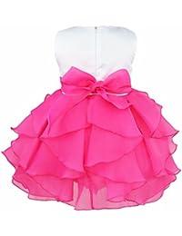 iEFiEL Vestido de Bautizo Princesa para Niñas y Bébes de Varios Colores de Organza Vestido de Fiesta