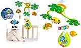 Baby Mobile TROPICAL FOREST mit Licht und Musik - Night Mobile - Kinderbett Mobile - Musikal Mobile - Nachtlicht Mobile - Mobile mit Licht - Babyspielzeug - Musikmobiles - Musik Drehmobile mit 3 Tiere - Biene, Affe und Vogel