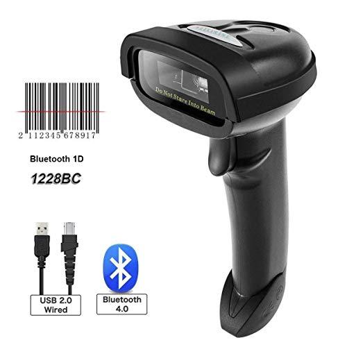 CHSSC Tragbarer 1D-Laser-Barcode-Leser Mit Bluetooth-Barcode-Scanner, USB-Kabel Und 2,4-GHz-Funk 2-in-1