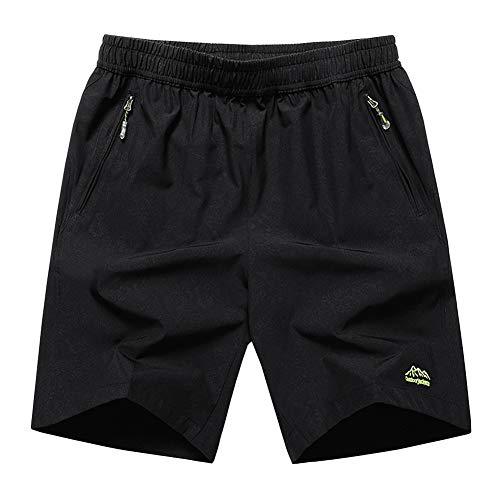 SXSHUN Hombres Bañadores Talla Grande XL-10XL Pantalones Cortos de Secado Rápido con Cordón, Negro...