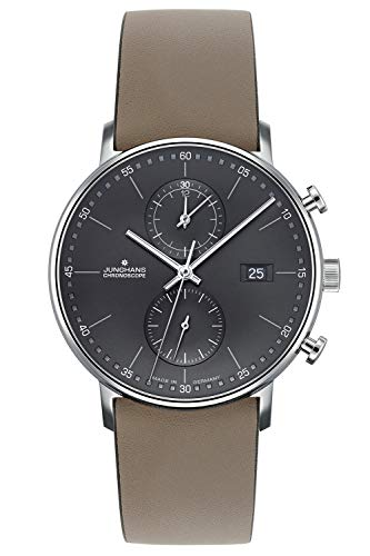 Junghans Herrenuhr Chronoscope Form C 041/487-Taupe