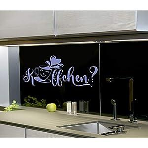 *NEU* Wandaufkleber/Wandtattoo/Wandsticker - Spruch für Küche & Büro Kaffee/Cafe Pause***Käffchen*** (Größen.- und Farbauswahl)