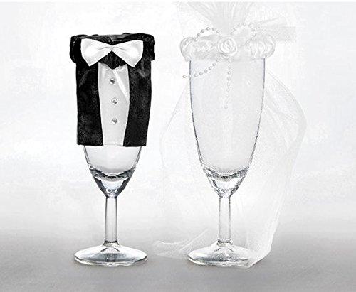 Glasdekoration im Brautpaarlook