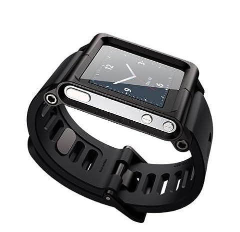 Hoso Multi-Touch cas de couverture de bande de montre en aluminium pour Apple iPod nano 6ème génération 8 Go 16 Go (OEM)