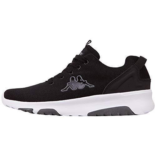 Kappa Riken, Sneakers Basses Homme, Noir (Black/White 1110), 43 EU