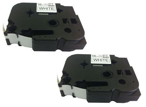 Eseller Direct® - 2 Nastri per Etichette TZ241 per Brother P-Touch PT-2730VP - 18mm x (Esd Bottiglia)