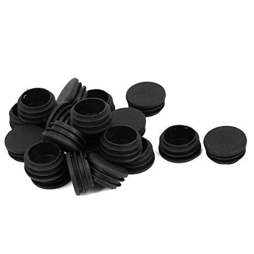 Sourcingmap® Embouts en Plastique Cache Rond pour Tube Diamètre 32 mm Noir Lot de 20