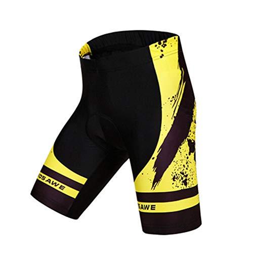 ZMMHW Männer Frauen Radhose 3D gepolsterte Gel Shockproof MTB Fahrrad Bike Shorts,A,M