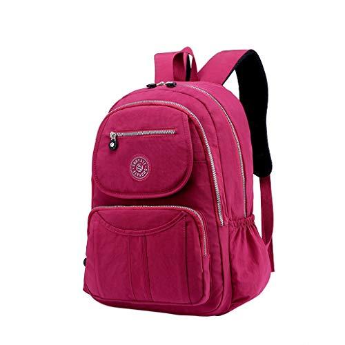 TUDUZ Mode frauen große kapazität umhängetasche student rucksack reise paar tasche Henkeltaschen(Wein) -