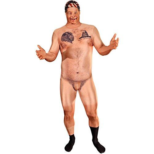 B-Creative Morphsuit erstaunliche Faux echte 3D-Druck nackte Hillbilly nackten Mann Billy Bob Kostüm (nackt zensierte Hillbilly-Kostüm) (Large 5