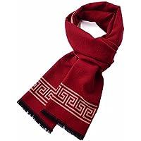 MZMZ ULTRA ADERENTE SCALDACOLLO BMBAI-uomini della sciarpa spazzolata sciarpe di seta inverno di etnia cinese red double-sided maglia sciarpe, rosso di cina