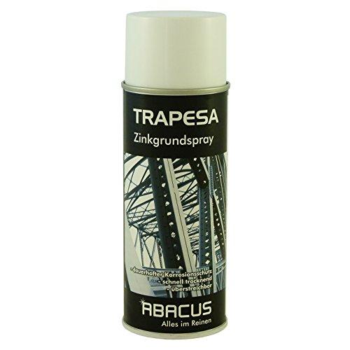 TRAPESA 400 ml (3650) - Zinkgrundspray Zinkstaubfarbe Korrosionsschutz Spray Zinkgrund Zinkstaub Stahlbau Brückenbau Hafenbau Schiffsbau Maschinenanlagen Rohrleitungen Fahrzeugbau - ABACUS