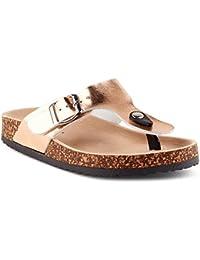 Fusskleidung Damen Riemchen Sandalen Zehentrenner Komfort Sandaletten Lack Schlappen Hausschuhe Pantoletten Schuhe