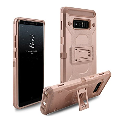 iPhone X Coque DWaybox 4 in 1 Combo Holster Hard Heavy Duty Coque avec Kickstand and Swivel Belt Clip on Shell Back pour Apple iPhone X 5.8 Inch (Rose Gold) Rose Gold