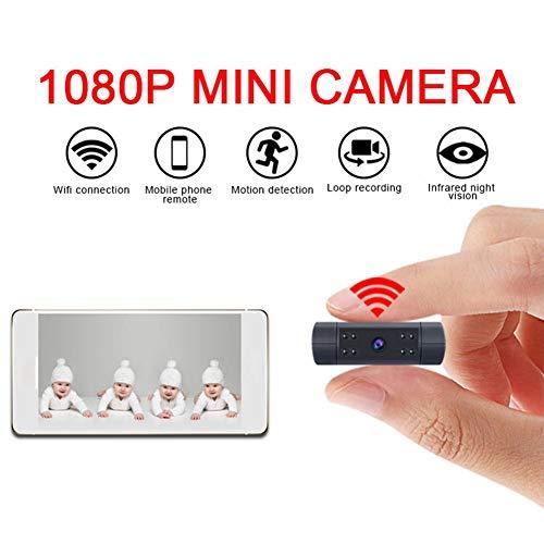 Mini-Kamera Wifi HD 1080P Videorecorder WD7 Winzig kleine drahtlose Überwachungskameras mit Nachtsicht, Bewegungserkennung, Remote View fo Smartphone