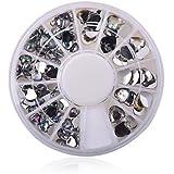 Manicure Love White Diamond Jewelry Ornaments Nail Disc Peach AB Drill 12 Lattice Loaded Turntable #05121255