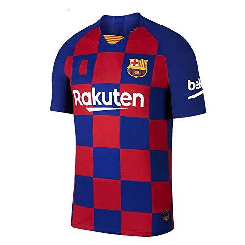 Fan Shirts Barcelona Blue Adult Shirt Fußball Schweiß Dry Comfort T-Shirt Benutzerdefinierte personalisierte Name Nummer-L